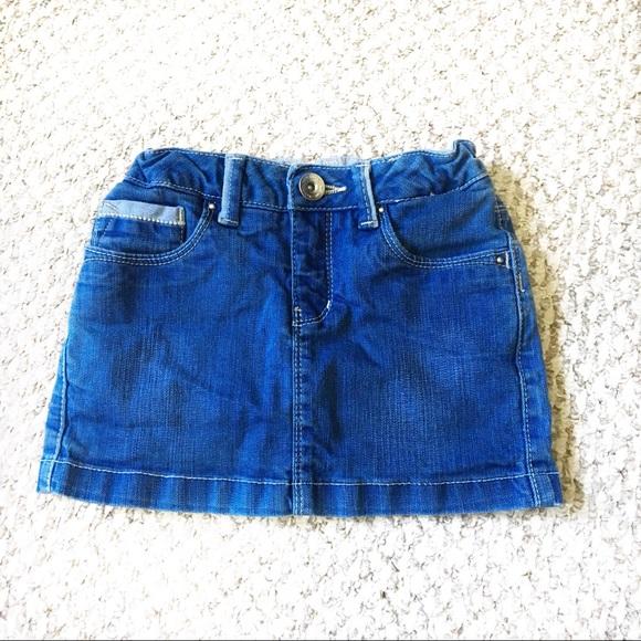 Zara Other - Zara Kids Jean Skirt Girls Size 5-6 Adjustable